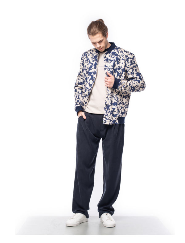 bomber jacket made from organic cotton