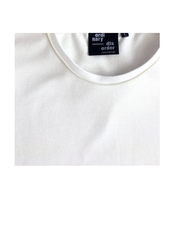 ordinary disorder t-shirt organic cotton white detail