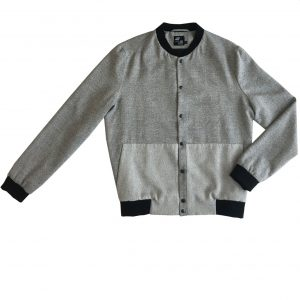 "Bomber Jacket ""TEN"" black-white front"