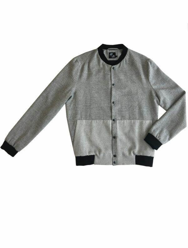 """Bomber Jacket """"TEN"""" black-white front"""