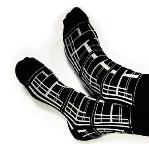 ordinary disorder socks check design